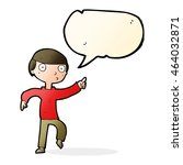 cartoon boy pointing with... | Shutterstock . vector #464032871