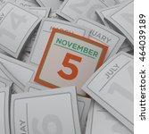 3d rendering random calendar... | Shutterstock . vector #464039189