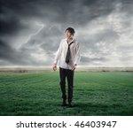Portrait Of A Wet Businessman...