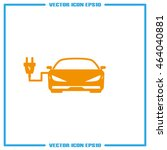 sign of the electric car... | Shutterstock .eps vector #464040881