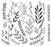 ink branches. vector... | Shutterstock .eps vector #464042855