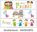 creative website header or... | Shutterstock .eps vector #464042891