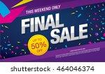 final sale banner. sale poster   Shutterstock .eps vector #464046374