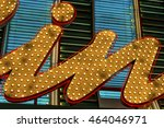 bright yellow and blue funfair  ... | Shutterstock . vector #464046971