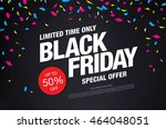 black friday sale banner | Shutterstock .eps vector #464048051