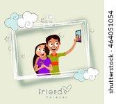 vector illustration of friends... | Shutterstock .eps vector #464051054