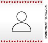 user icon  | Shutterstock .eps vector #464069021
