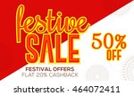 sale poster or sale banner for... | Shutterstock .eps vector #464072411