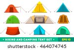 collection of camping tent... | Shutterstock .eps vector #464074745