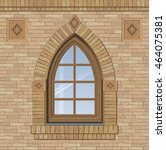 Arched Antique Window On A...