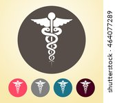 medical symbol icon in round... | Shutterstock .eps vector #464077289
