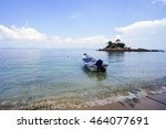 landscape of tropical island... | Shutterstock . vector #464077691