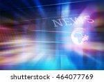 graphical digital news... | Shutterstock . vector #464077769