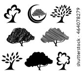 abstract tree silhouette logo... | Shutterstock .eps vector #464078279