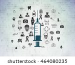 healthcare concept  painted... | Shutterstock . vector #464080235