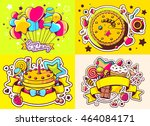 vector creative colorful set of ... | Shutterstock .eps vector #464084171