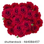red rose isolated on the white... | Shutterstock . vector #464086457