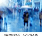an image of people in a rush | Shutterstock . vector #464096555