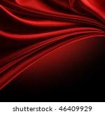 Red Silk Border Over Black