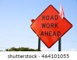 Orange Road Work Ahead Diamond...