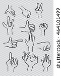 hand icon collection. sketchy... | Shutterstock .eps vector #464101499