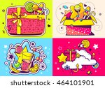 vector creative colorful set of ... | Shutterstock .eps vector #464101901