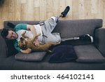 quadruple amputee relaxing on... | Shutterstock . vector #464102141
