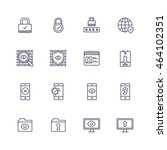 security icons | Shutterstock .eps vector #464102351