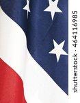 closeup of an american flag... | Shutterstock . vector #464116985