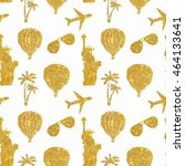 seamless pattern with different ... | Shutterstock . vector #464133641