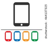 tablet vector icon set. simple... | Shutterstock .eps vector #464137325