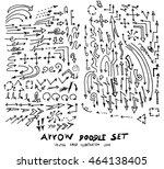 vector hand drawn arrows set | Shutterstock .eps vector #464138405
