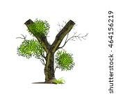 tree font on white background... | Shutterstock .eps vector #464156219