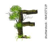 tree font on white background.... | Shutterstock .eps vector #464157119