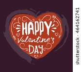 happy valentines day greeting... | Shutterstock .eps vector #464162741