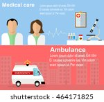 visit to the doctor and... | Shutterstock .eps vector #464171825