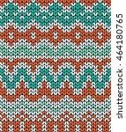 green and orange knitting... | Shutterstock . vector #464180765