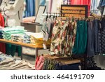 clothing store interior with... | Shutterstock . vector #464191709