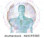 augmented reality. human... | Shutterstock . vector #464195585