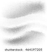 black dots on white background. ... | Shutterstock .eps vector #464197205