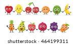cartoon fruits characters | Shutterstock .eps vector #464199311