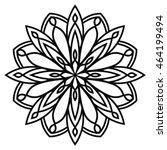 black outline flower round... | Shutterstock .eps vector #464199494