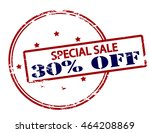 rubber stamp with text special... | Shutterstock .eps vector #464208869