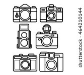 camera line icon set   Shutterstock .eps vector #464210144