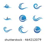 water wave logo template | Shutterstock .eps vector #464212079