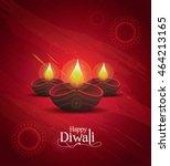 diwali festival design template ... | Shutterstock .eps vector #464213165