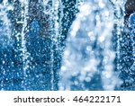 the gush of water of a fountain.... | Shutterstock . vector #464222171