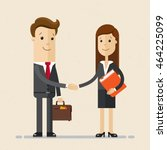 business man and woman. two... | Shutterstock .eps vector #464225099