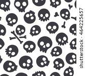 seamless pattern with skulls.... | Shutterstock .eps vector #464225657