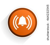 alarm flat icon with shadow on... | Shutterstock . vector #464232545